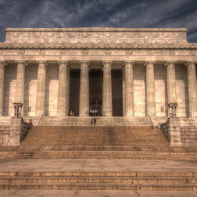 Lincoln Memorial by Michael McMurray - Buildings & Architecture Statues & Monuments ( dc, abraham lincoln, memorial, lincoln, hdr, column, lincoln memorial, tourism, monument, washington dc, steps, sightseeing )