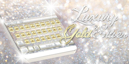 Luxury Gold & Silver Keyboard screenshot