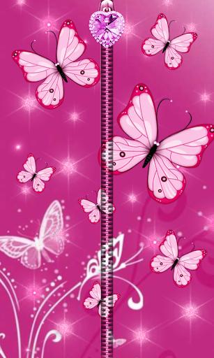 Pink Butterfly Zipper UnLock