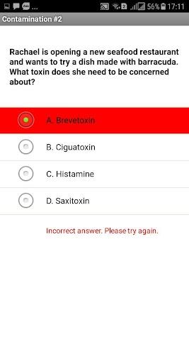 Food Safety Exam Prep Screenshot