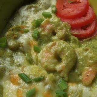Camarones en Salsa Culichi (Shrimp in a Poblano Cream Sauce)