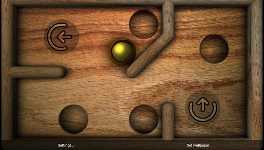 Marble Maze Wallpaper Game XL Screenshot