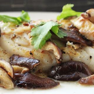 Pan-Seared Fish with Shiitake Mushrooms.