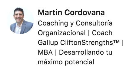 Coaching y Consultoría Organizacional, Gallup Clifton Strenghts, MBA
