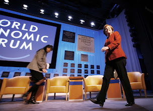 Photo: DAVOS/SWITZERLAND, 24JAN07 - Angela Merkel, Federal Chancellor of Germany, speaks during the opening address to the participants at the Annual Meeting 2007 of the World Economic Forum in Davos, Switzerland, January 24, 2007.  Copyright by World Economic Forum    swiss-image.ch/Photo by Monika Flueckiger  +++No resale, no archive+++