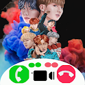 Fake Call With BTS - Calling Video Apps icon