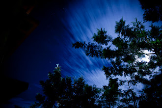 Photo: Another full moon night I observed in Himachal Pradesh. I had to hide the moon behind the trees as it was becoming too bright and it was quite distracting to show the movement of the clouds with the moon.
