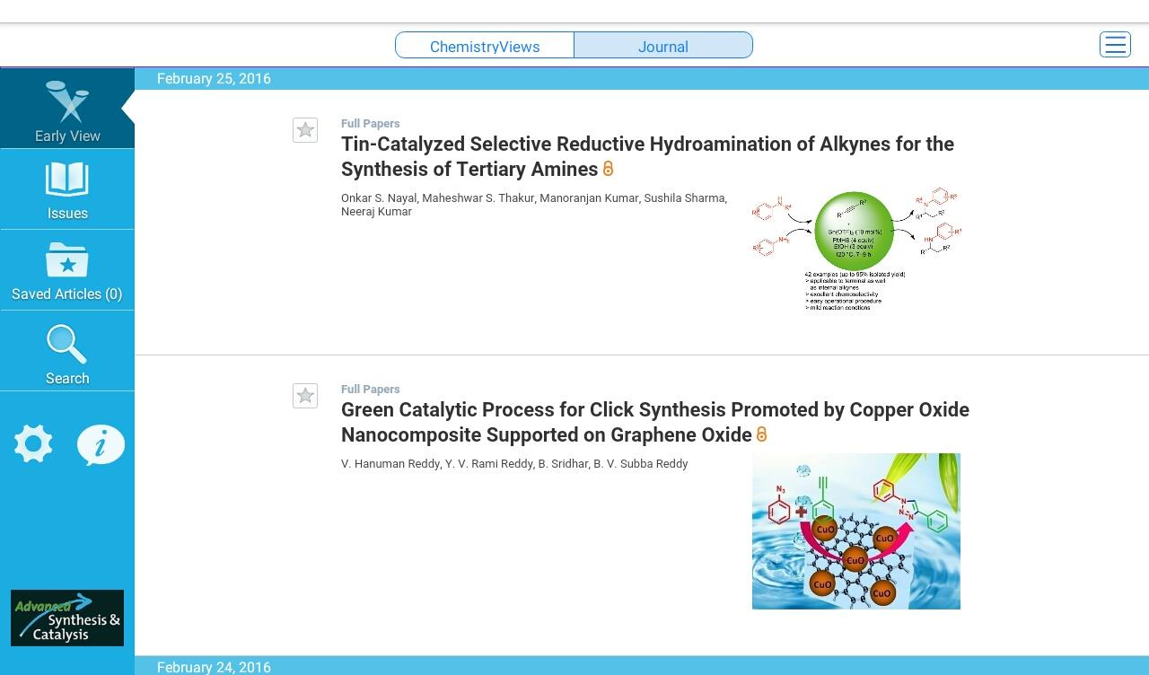 Advanced Synthesis & Catalysis- screenshot
