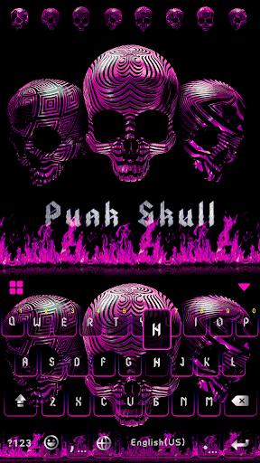 Punk Skull Keyboard Theme