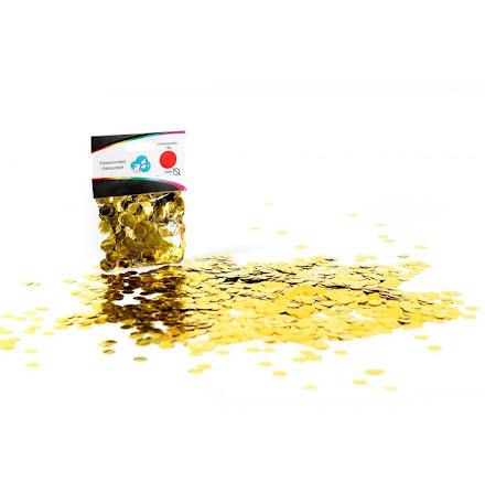 Ballongkonfetti - guld, 15 gram