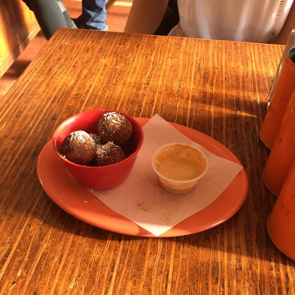 Yuca beignets with dulce de leche