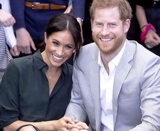The Duke and Duchess of Sussex in the photograph they posted on Instagram to announce their Southern African itinerary, beginning in Cape Town on September 23.