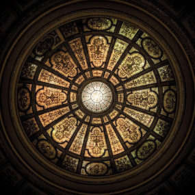 Chicago Cultural Center by Jay Anderson - Buildings & Architecture Architectural Detail ( round, stained glass )