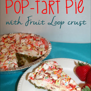 Strawberry Pop-tart Pie w/ Fruit Loop Crust