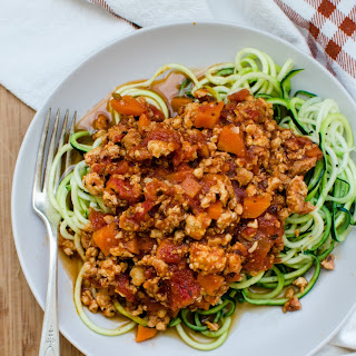 Zucchini Noodles with Chicken Bolognese