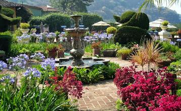 Photo: A garden scene at Hotel Atitlan on Lake Atitlan.
