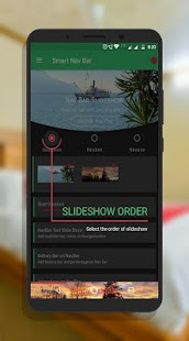 Smart navigation bar - navbar slideshow Screenshot