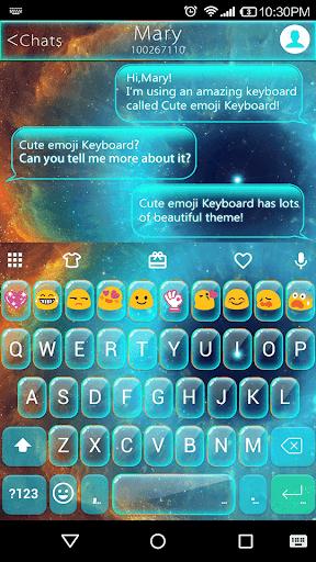 Galaxy Glass Emoji Keyboard