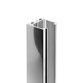 Profilé de compensation, 18 mm, aspect chromé, pour porte pivotante et battante NewStyle