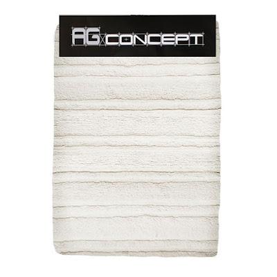 Коврик для ванны AG concept белый 2 полоски 70х120 см