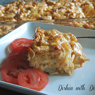 Buffalo Chicken Hashbrown Casserole