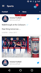 Arizona Wildcats Gameday App- screenshot thumbnail