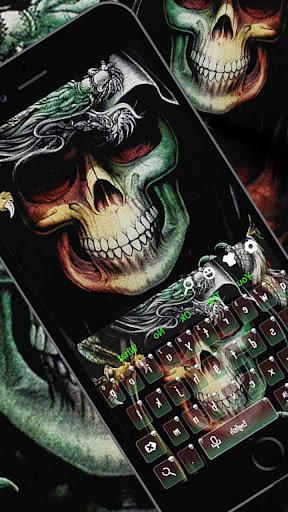 Green Skull Keyboard Theme for PC
