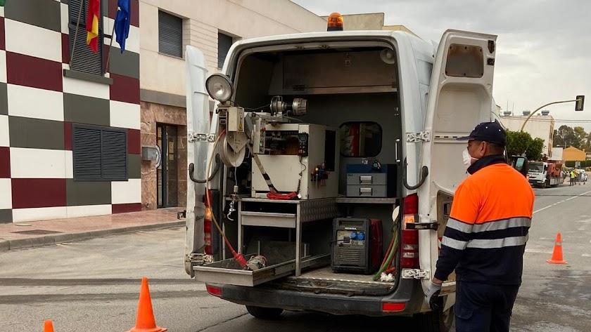 Inspección de las redes de abastecimiento y saneamiento del municipio de Pulpí.