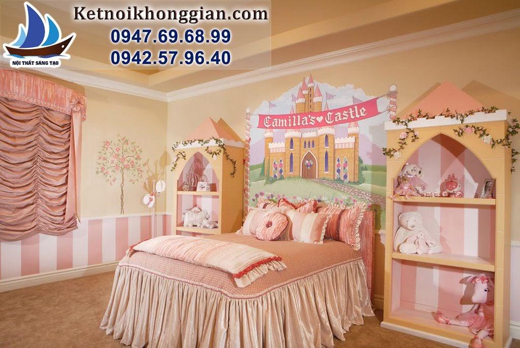 thiết kế phòng bé gái phong cách cổ tích