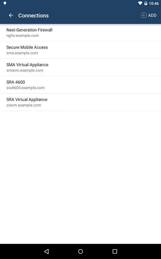 SonicWALL Mobile Connect- screenshot
