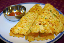 Rice Flour Carrot Roti