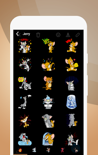 Jerry Funny Animation Cartoon Stickers - náhled