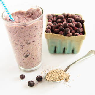 Blueberry Banana Smoothie with Chia Seeds.