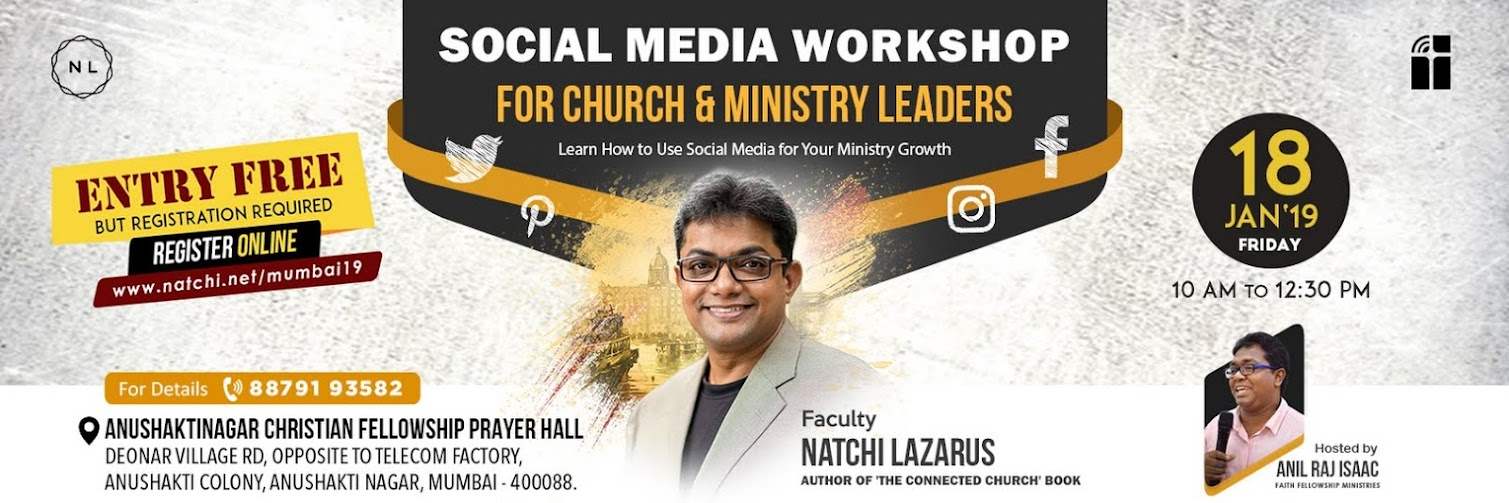 Social Media Workshop in Mumbai, India for Church & Ministry Leaders