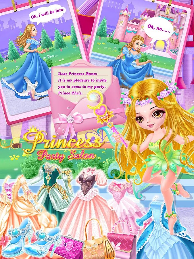 Princess Party Salon:Girl Game - Android Apps on Google Play