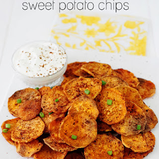 Spicy Baked Sweet Potato Chips