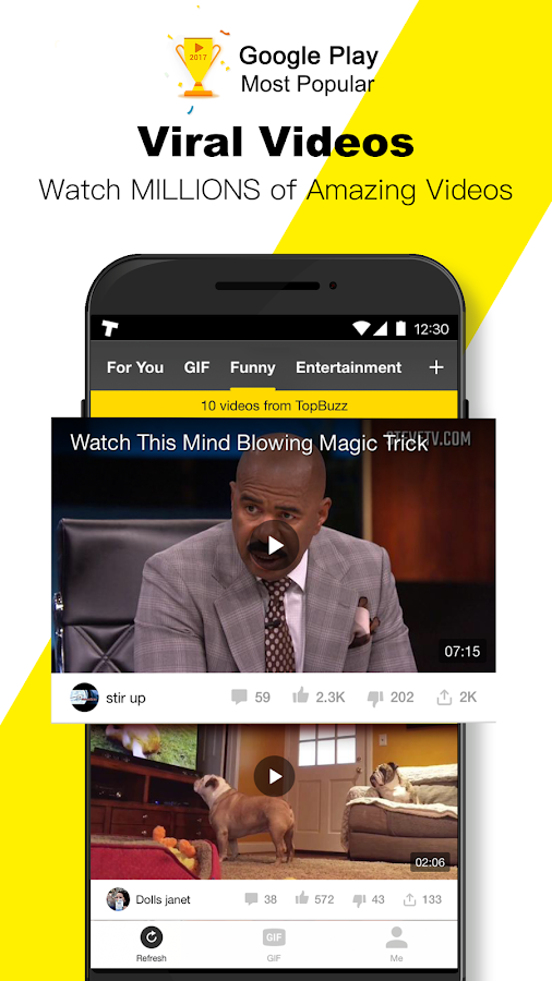 TopBuzz Video: Viral Videos, Funny GIFs &TV shows- screenshot