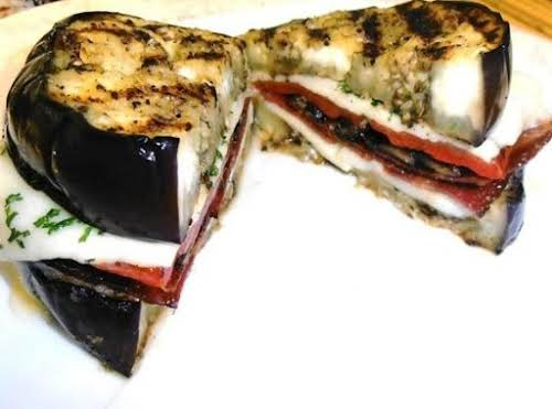 """Click Here for Recipe: Grilled Eggplant Sandwich """"What an AWESOME idea! I..."""