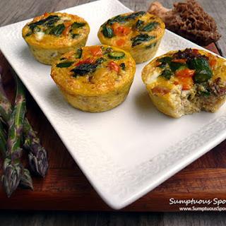 Mushroom Asparagus Quinoa Quiche Cups