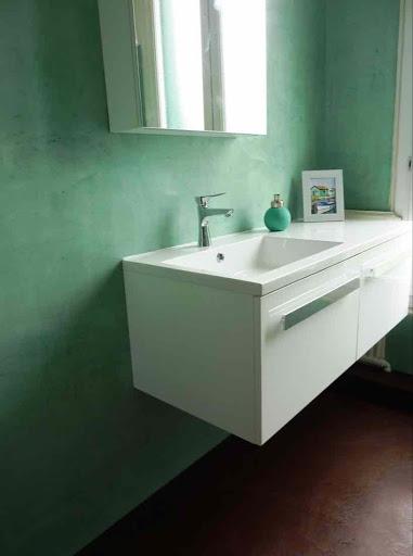 salle eau béton ciré sol
