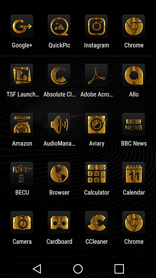 Raid Gold Black Icon Pack - Android Apps on Google Play
