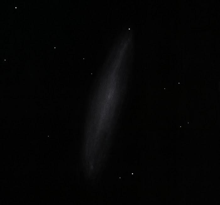 Photo: NGC247, située dans la Baleine, au T400 à 220X. Grande galaxie très diaphane. 29/10/16 au col des Tentes (Pyrénées).