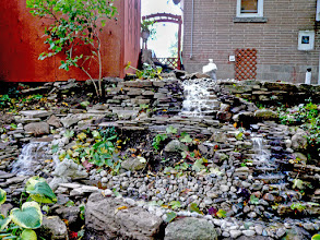 Photo: One of the lesser-noticed elements of landscaping is motion and this waterfall provides that.