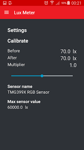 android Lux Meter Screenshot 1