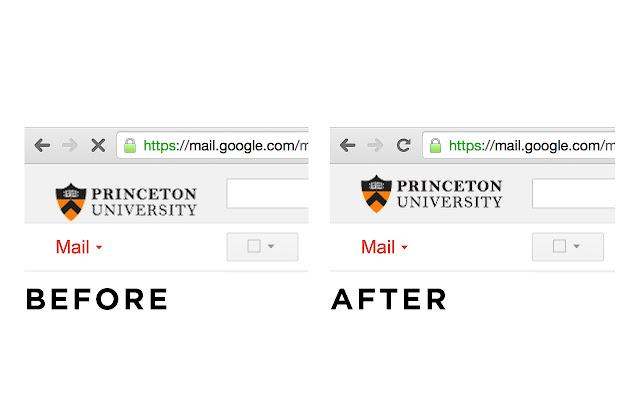 Center Logo in Princeton Google Apps