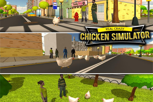 Crazy Chicken Simulator 3D