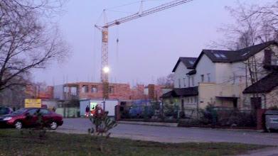 """Photo: 21 XI 2011 roku - budowa nowego pawilonu przy  """" ARCE """""""