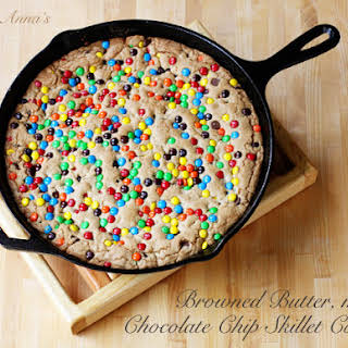 Browned Butter M&m Skillet Cookie.