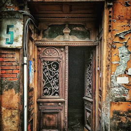Old Doors in Tbilisi by Leyon Albeza - Instagram & Mobile iPhone ( doors, textures, old street, ruins, old town, details,  )