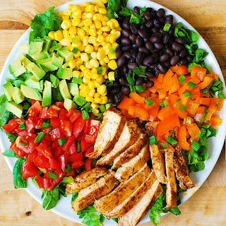 Southwestern Chopped Salad with Buttermilk Ranch Dressing.